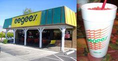 TUCSON, AZ. eegee's!!!!! they have the BEST pina colada slushie sorta drink...soo good!