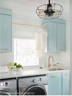 7 Small Laundry Room Design Ideas - Des Home Design Laundry Room Remodel, Laundry Room Organization, Laundry Room Design, Laundry Room Cabinets, Laundry Closet, Storage Organization, Blue Laundry Rooms, Vintage Laundry Rooms, Laundry Room Inspiration