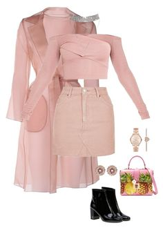 """Pretty in Pink"" by anjolaodutayo ❤ liked on Polyvore featuring MaxMara, Topshop, Yves Saint Laurent, Dolce&Gabbana, Michael Kors and Ted Baker"