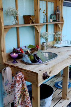 Custom Cedar Potting Station/Outdoor Wet Bar by HemlockAndHeather
