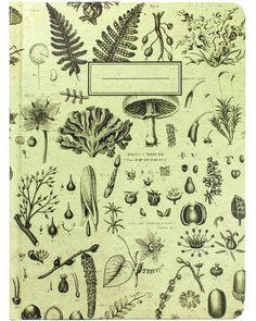 Plants & Fungi Vintage Hardcover Journal - Cognitive Surplus - 1