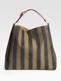Fendi striped hobo bag.