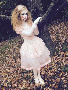 Porcelain Doll Costume - 2015 Halloween Costume Contest via @costume_works