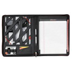 Zippered Padfolio with Elastic Straps for Storage...