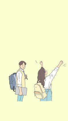 Couple Illustration, Hd Wallpaper, Doodles, Watercolor, Yellow, Locks, Backgrounds, Random, Phone