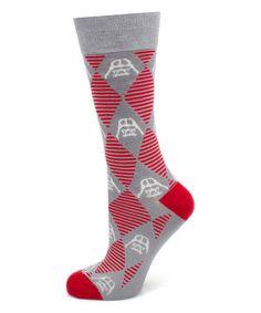 This Gray Argyle & Stripe Darth Vader Socks - Men is perfect! #zulilyfinds