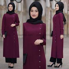 Abaya Fashion, Fashion Outfits, Hijab Style Tutorial, Tall Girl Fashion, Muslim Women Fashion, Hijab Fashionista, Muslim Dress, Turkish Fashion, Pakistani Dress Design