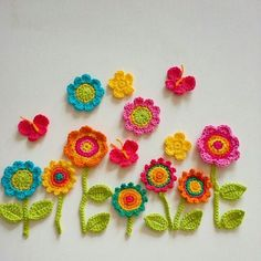 Tagged by the so lovely Monica for . I am finishing an order for crochet flowers and couldn't resist having a play:) Tagged by the so lovely Monica for . I am finishing an order for crochet flowers and couldn't resist having a play:) Marque-pages Au Crochet, Crochet Wall Art, Crochet Wall Hangings, Crochet Motifs, Crochet Amigurumi, Crochet Flower Patterns, Crochet Home, Crochet Gifts, Crochet Doilies