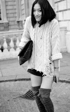 I want a partially shredded knit sweater like this, except not Prada. -_-
