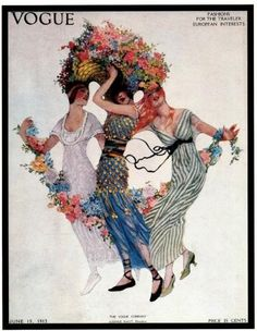 Vintage Vogue cover 'Fashions for the Traveler/European Interests' by artist(?), June 15, 1913