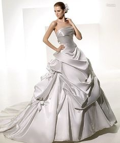 Vestidos de noiva prateados