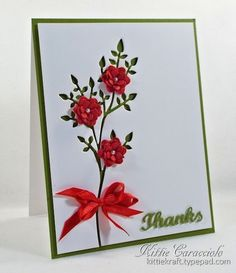 Inspired Floral Thank You by kittie747 - Cards and Paper Crafts at Splitcoaststampers
