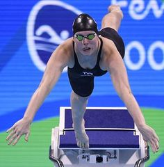 USA's Lilly King competes to break the Olympic record in the Women's 100m Breaststroke Final during the swimming event at the Rio 2016 Olympic Games at the Olympic Aquatics Stadium in Rio de Janeiro on August 8, 2016. / AFP PHOTO / GABRIEL BOUYSGABRIEL BOUYS/AFP/Getty Images