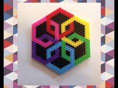 DIY Perler Bead Geometric Design Tutorial//Satisfying Optical Illusion Perler Bead Creation!! - YouTube