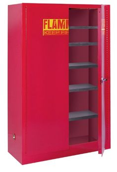 """#TagsForLikes #homedesign  This #Sandusky Lee PC60 storage cabinet has a double wall 18-gauge welded steel construction with 1-1/2"""" air space for strength, a red..."""