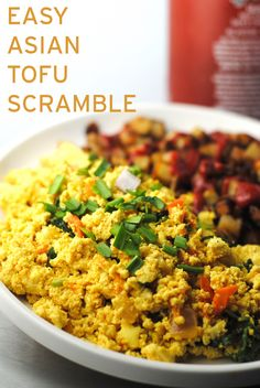 This easy, vegan scramble is great on toast, with hashbrowns or served over rice. Makes a quick and satisfying meal. I love easy recipes.
