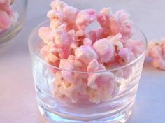 Pink popcorn... Pink food coloring, a ton of white chocolate, popcorn...