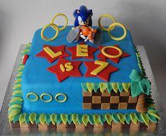 Sonic the Hedgehog Cake Ideas / Sonic Themed Cakes Sonic Birthday Cake, Sonic Birthday Parties, Boy Birthday, Birthday Cakes, Birthday Ideas, Bolo Sonic, Sonic Cake, Sonic Party, Sonic Kuchen