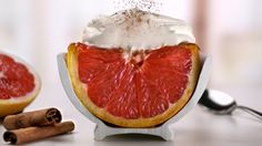 Cinnamon-baked grapefruit