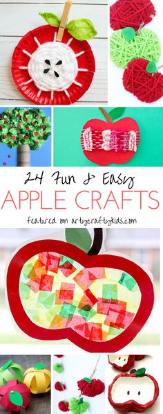 Arty Crafty Kids Craft Adorable Apple Crafts For Kids Tge Sweetest, Easyiest Most 'Do-Able' Apple Crafts For Kids Perfect For An Apple Themed Autumn Craft Session. Autumn Activities, Craft Activities For Kids, Preschool Crafts, Fun Crafts, Craft Ideas, Crafts For Kids To Make, Projects For Kids, Art For Kids, Apple Theme