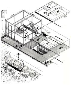 HUSETS MEKANO: Å skape mest mulig frihet i oppdeling av rom og soner i og… Heart Beating Fast, International Style, Floor Plans, Modernism, Amazing, House, D1, Design, Drawings