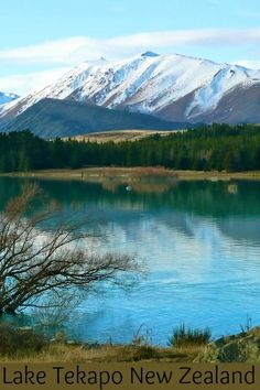 Lake Tekapo is one of my favourite photo stops on the South Island of New Zealand, especially in spring or autumn with the partial snowcapped mountains.