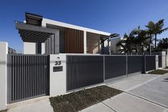 modern residential fence - Google Search