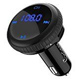 Limited Time Offer on CHGeek MP3 Player Radio FM Transmitter Wireless Bluetooth Hands Free Car Locator Dual USB Charger.