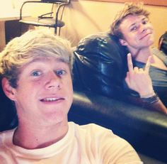 My fave 1D member and my fave 5SOS member....... I can't even it's just too much!!!