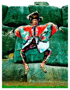 Mario Testino for a special issue of Vogue Paris devoted to Peru. We get to absorb some of the culture and beautiful landscape in this colour explosion editorial styled by Emmanuelle Alt.