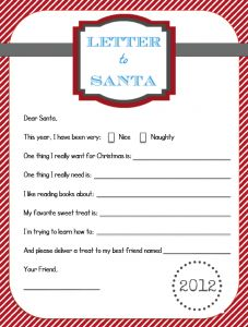 Free Printable Letters to and from Santa