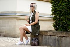 how to wear: a white dress