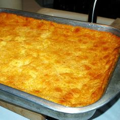 Another great side dish to add to your Thanksgiving Feast. Corn Casserole Printable Version: Corn Casserole Ingredients: 1 can whole kernel corn, not drained 1 can cream-style corn cup butt. Creamy Corn Casserole, Casserole Dishes, Casserole Recipes, Braai Recipes, Slow Cooker Recipes, Sweet Corn Pudding, Sweet Chilli Sauce, Thing 1, Thanksgiving Recipes
