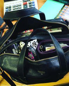 Day 19: In my Bag Bag: Fossil Sydney Satchel Contents: Van Der Spek personal…