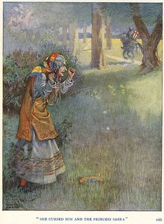 Illustration by Honor C. Appleton . From Saint George Of England by Basil Hood . 1919  She Cursed Him | Flickr - Photo Sharing!