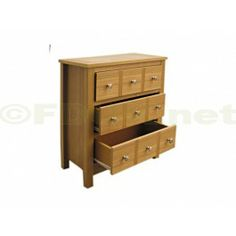 £79.99 - Oakridge Multi Drawer Chest is a magnificent, eye catching chest that is perfect for medium to large sized bedrooms. This chest is ideal for sharing with two people, and has been designed to hold a vast amount of clothes and personal items. Oakridge Unit with 3 drawers but the handles cleverly give the impression of 9 drawers.