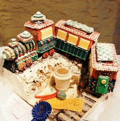 A delightful gingerbread house modeled after the Polar Express. 2011, 1st place, adult category
