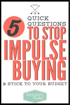 These 5 simple steps stop impulse shoppers from destroying their budget every month. This new way of thinking is highly effective at changing behavior. Money Plan, Money Tips, Debt Snowball Worksheet, Saving Money Quotes, Budgeting Finances, Budgeting Tips, Budgeting Worksheets, Thing 1, Ways To Save Money