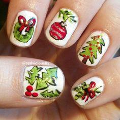 Christmas nail art ig sydvicious88