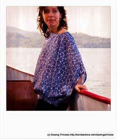 Sailing on the Lake Blouse by sewing princess, via Flickr