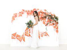 Bright Orange Art Gallery Wedding Inspiration