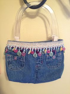 Sew Crafty Angel: Denim Bag