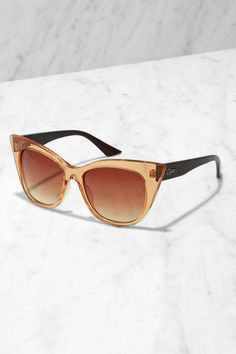 Quay Modern Love Amber and Brown Sunglasses at Lulus.com!