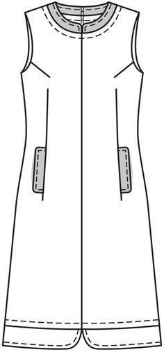 Платье и пальто - выкройка № 3 из журнала 1/2015 Burda. Винтаж – выкройки комплектов и костюмов на Burdastyle.ru