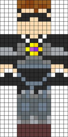 Minecraft SkyDoesMinecraft skin perler bead pattern