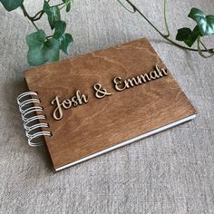 Personalized Photo Album, Wood Cover Scrapbook, Gift for Girlfriend, Boyfriend Personalised Photo Books, Personalized Photo Albums, Scrapbook Cover, Drawing Journal, Wooden Books, Girlfriend Birthday, Photo On Wood, Diy Photo, Wedding Guest Book