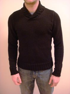 Men's shawl collar pullover