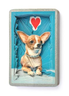 Lonely Heart No.201542 Chihuahua / altered by objectsofcuriosity