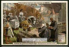 A Middle Ages Castle Surrenders c1900 Card