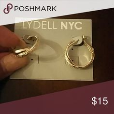 Earrings Gold twist hoop earrings Lydell NYC Jewelry